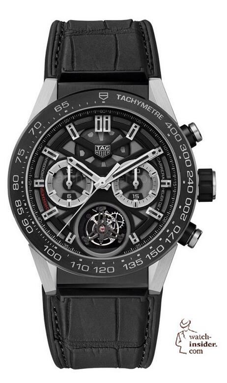 Replica TAG Heuer Carrera Calibre Heuer 02 Tourbillon COSC Black Titanium