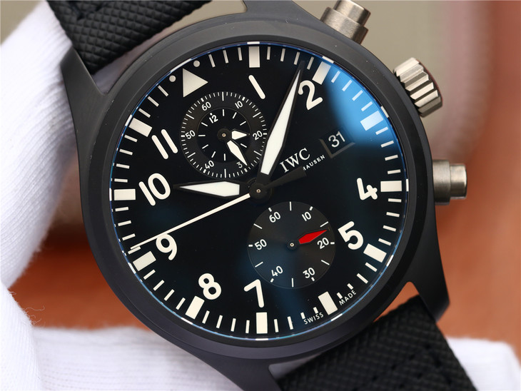 Replica IWC Top Gun Black Dial